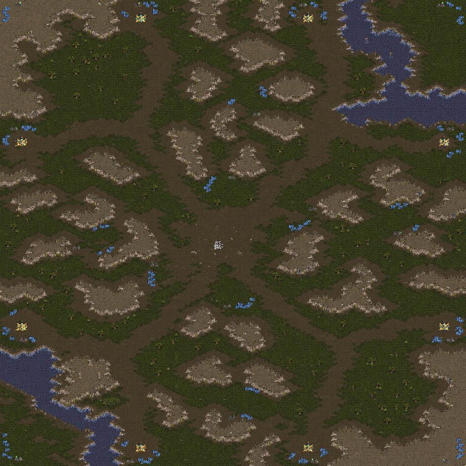StarCraft Enlarged Map Images